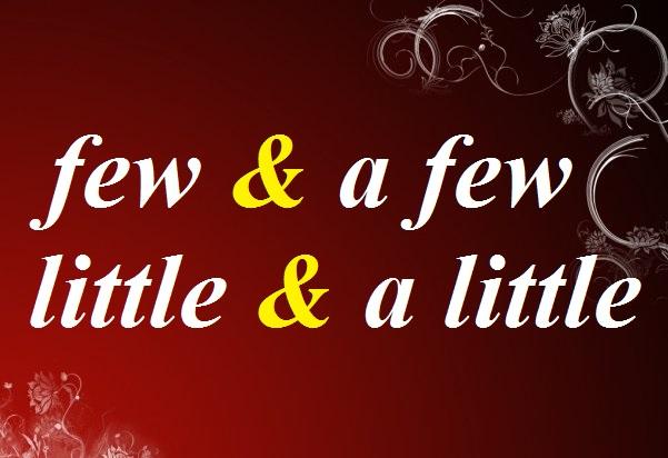 использование few, a few, little, a little