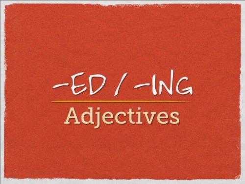 Окончания прилагательных -ing -ed в английском