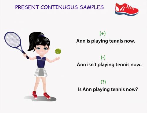 примеры английских предложений present continuous